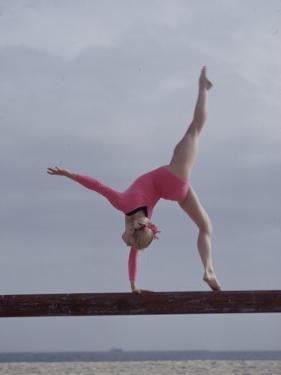Gymnast Cathy Rigby, Long Beach, California by John Dominis