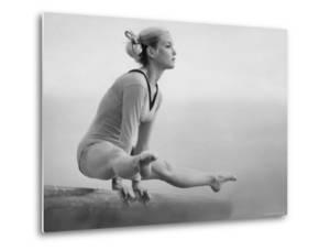 Gymnast Cathy Rigby, Training on Balancing Beam by John Dominis