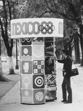 Information Booth for Olympic Games in Mexico City 1968 by John Dominis