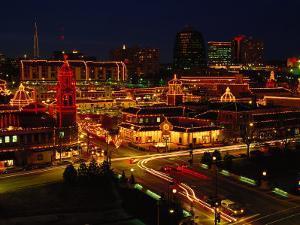Kansas City Plaza, at Christmas, Missouri by John Dominis
