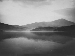 Lake Placid Reflecting White Face Mountain by John Dominis