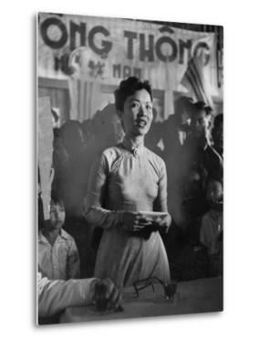Madame Ngo Dinh Nhu, Acting as Official Hostess for Pres. Ngo Dinh Diem by John Dominis