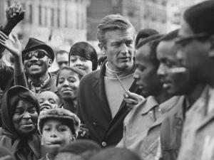 Mayor John Lindsay Touring the City and Talking to Residents by John Dominis