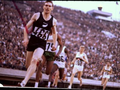 New Zealand's Peter Snell in Action at the Summer Olympics