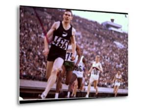New Zealand's Peter Snell in Action at the Summer Olympics by John Dominis