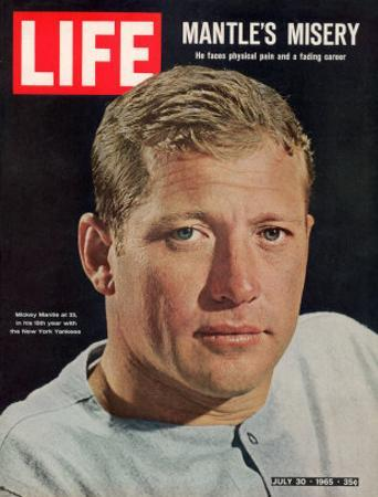 NY Yankee Slugger Mickey Mantle, July 30, 1965 by John Dominis