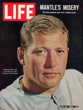 NY Yankee Slugger Mickey Mantle, July 30, 1965 by John Dominis