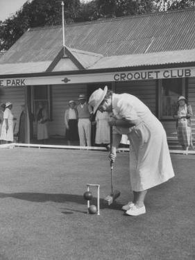 Playing Croquet, at Croquet Club by John Dominis