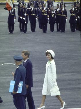 Pres. John Kennedy and Wife Jacqueline During a State Visit to Mexico by John Dominis