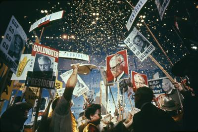 Raining Gold Coins as Barry Goldwater Wins the Republican Nomination, San Francisco, CA, 1964