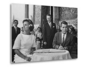 Robert F. Kennedy and Wife Ethel in Bangkok by John Dominis
