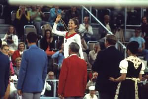 Russian Gymnast Olga Korbut Winner at the 1972 Summer Olympic Games in Munich, Germany by John Dominis