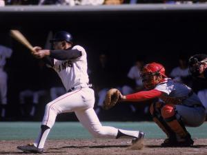 San Francisco Giants Willie Mays at Bat, Cincinnati Reds Catcher Johnny Bench Behind the Plate by John Dominis