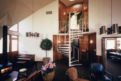 Spiral Staircase in Dr. Charles Bingham's Geodesic Dome House, Fresno, CA, 1972 by John Dominis