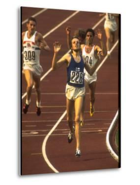 Swedish Athlete Lasse Viren in the Lead During 5,000M Race at Summer Olympics by John Dominis