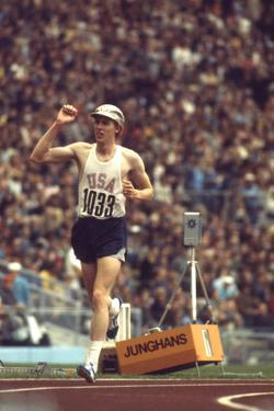 Us Dave Wottle, Gold-Medalist 800 Meter Run at the 1972 Summer Olympic Games in Munich, Germany by John Dominis
