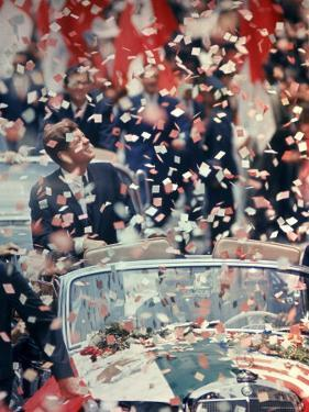 US President John F. Kennedy Receiving a Ticker Tape Parade During a State Visit to Mexico by John Dominis