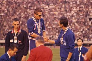 Usa Gold Medalist During the 1964 Tokyo Summer Olympic Games by John Dominis