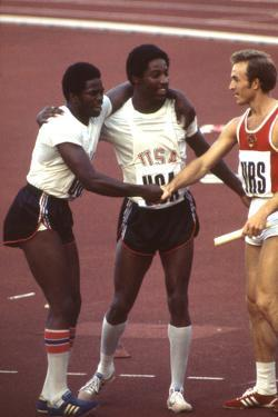 Usa Winners of the Men's 400- Meter Relay Race 1972 Summer Olympic Games in Munich, Germany by John Dominis