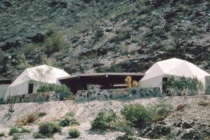 View of a Pair of Connected, Geodesic Domes with a Patio (Built by John Hardaways) by John Dominis