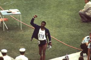 Wayne Collett after Winning Men's 400-Meter Race at 1972 Summer Olympic Games in Munich, Germany by John Dominis