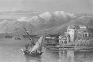 Bay of Beirut, Engraved by C. Cousen by John Douglas Woodward