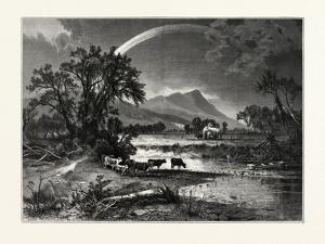 Mount Tom, from the Northampton Meadows, USA by John Douglas Woodward