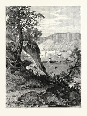 Palisades, from Below Hastings, USA by John Douglas Woodward