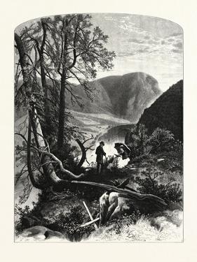 View from Prospect Rock, Delaware Water Gap, USA by John Douglas Woodward