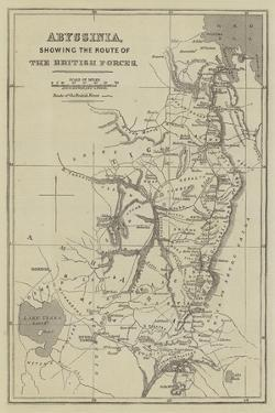 Abyssinia, Showing the Route of the British Forces by John Dower