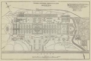 Ground Plan of the Vienna Universal Exhibition, 1873 by John Dower
