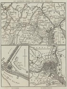 Map Illustrating General Lee's Advance into Pennsylvania by John Dower
