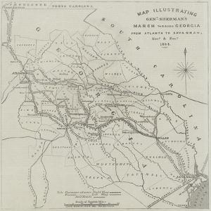 Map Illustrating General Sherman's March Through Georgia from Atlanta to Savannah by John Dower