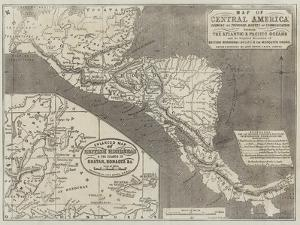 Map of Central America by John Dower