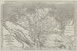 Map of Lower Egypt, Showing the Lines of Railway and Projected Isthmus of Suez Canal by John Dower