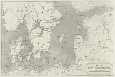 Map of the Baltic Sea
