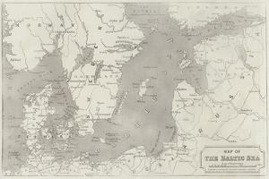Map of the Baltic Sea by John Dower