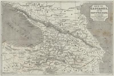 Map of the Caucasus