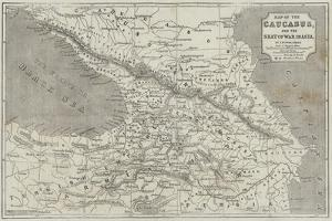 Map of the Caucasus by John Dower