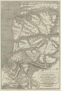 Map of the Country Between the River Alma and Balaklava by John Dower