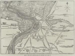 Map of the New Fortifications of Antwerp by John Dower