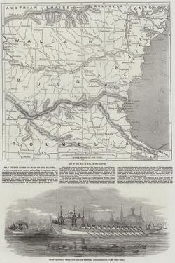 Map of the Scene of War on the Danube by John Dower