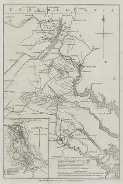 Map of the Seat of War in Virginia by John Dower