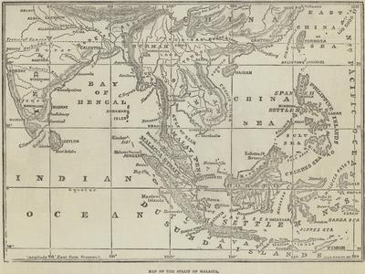 Map of the Strait of Malacca
