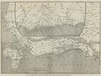 Maps of Africa, Upper Guinea, and the Gold Coast, Showing the Site of the Ashantee War