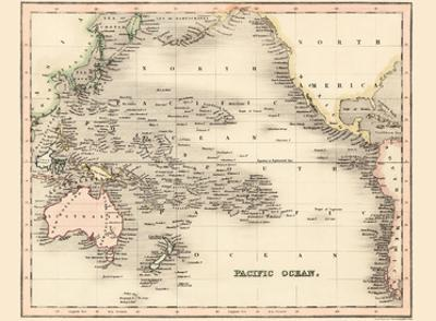 Pacific Ocean - Dower's General Atlas of the Earth by John Dower