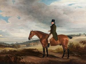 Equestrian Portrait of Andrew Berkeley Drummond in Cadland Park, 1822 by John E. Ferneley