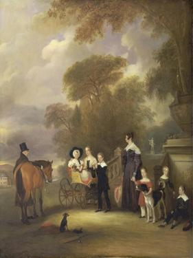 The Rev and Mrs Henry Palmer with their Six Younger Children at Withcote Hall by John E. Ferneley