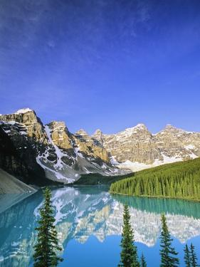 Moraine Lake, Banff National Park, Alberta, Canada by John E Marriott