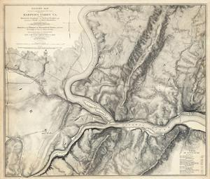 Civil War Map of the Country Adjacent to Harper's Ferry, Virginia, c.1863 by John E. Weyss